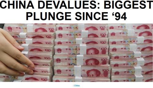 !!!!!BN2015-8-11CHINA DEVALUES- BIGGEST PLUNGE SINCE '941