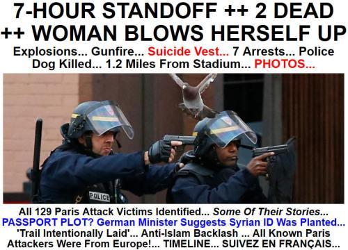 !!!!!BN2015-11-187-HOUR STANDOFF ++ 2 DEAD ++ WOMAN BLOWS HERSELF UP1