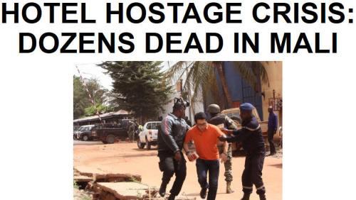 !!!!!BN2015-11-20HOTEL HOSTAGE CRISIS- DOZENS DEAD IN MALI1