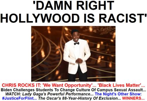 !!!!!BN2016-2-29'DAMN RIGHT HOLLYWOOD IS RACIST'1